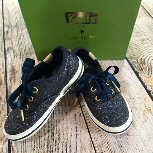 532556ee26fd2b Keds Other - Keds girls Kate spade champion glitter sneakers